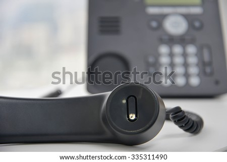 IP Phone on the white table