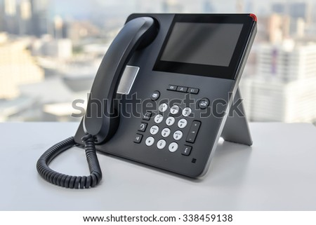 IP Phone - Technology of Communication - stock photo