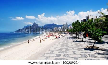 Ipanema beach. Rio de Janeiro - stock photo