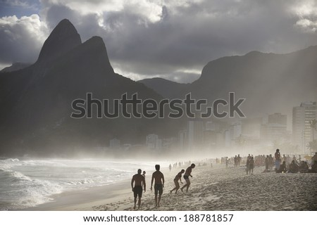 Ipanema Beach, the world famous beach,