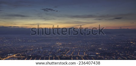Ipoh city sunrise view - stock photo