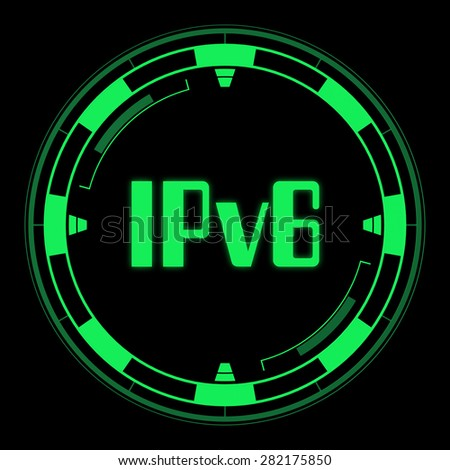 IPv6 - Internet Protocol version 6 - stock photo