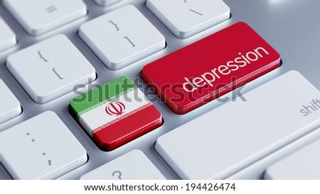 Iran High Resolution Depression Concept - stock photo