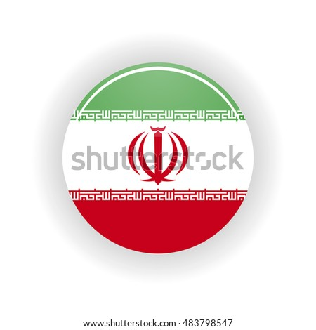 Iran icon circle isolated on white background. Tehran icon  illustration