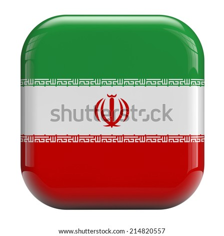 Iranian flag isolated symbol icon.