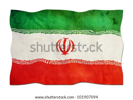 Iranian Flag made of Paper - stock photo