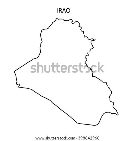 Map Iraq D Stock Illustration Shutterstock - Iraq map outline