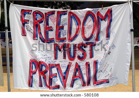 Iraq Troops Support Banner - stock photo