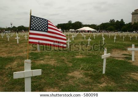 Iraq War Protest Site - stock photo
