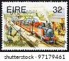 IRELAND - CIRCA 1995: a stamp printed in the Ireland shows Co. Donegal Railway, Narrow Gauge Railways, circa 1995 - stock photo
