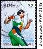 IRELAND - CIRCA 1996: a stamp printed in the Ireland shows Discobolus, 1996 Summer Paralympic Games, Atlanta, circa 1996 - stock photo