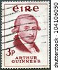IRELAND - CIRCA 1959: stamp printed in Ireland shows Arthur Guinness (1725-1803), Bicentenary of Guinness Brewery, circa 1959 - stock photo