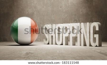 Ireland High Resolution Shopping - stock photo