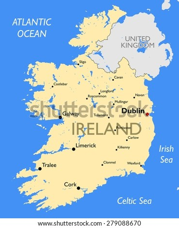 Ireland map - stock photo