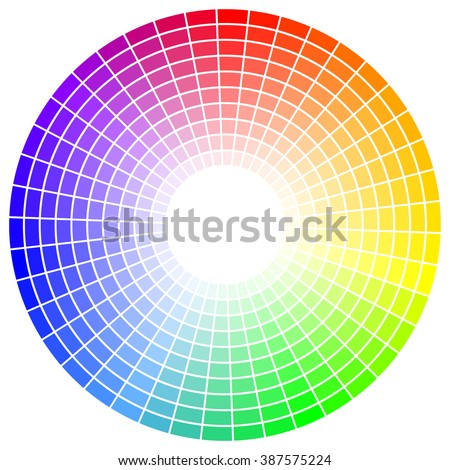 Iridescent circle. Combination of color. Colour palette for an artist or designer - stock photo
