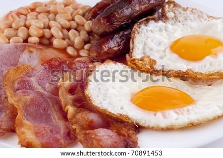 irish breakfast - stock photo