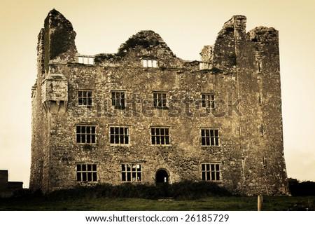 Irish Castle - stock photo