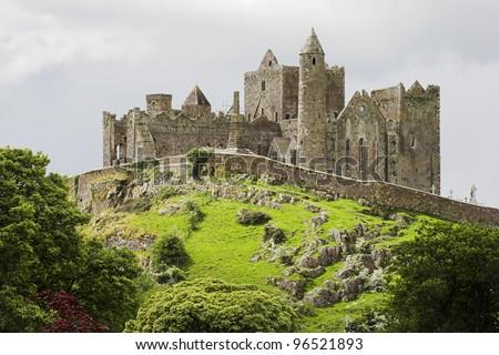 Irish Castle, Rock of Cashel - stock photo