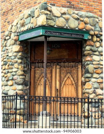 Irish church door in Corktown Detroit & Irish Church Door Corktown Detroit Stock Photo 94906003 - Shutterstock