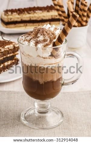 Irish coffee - stock photo