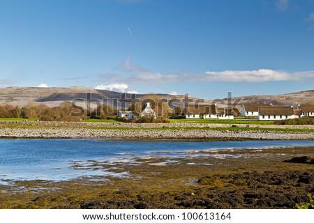 Irish cottage houses in Burren, Co. Clare - stock photo