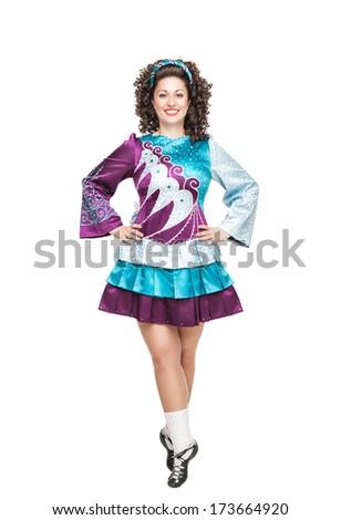 Irish dancer  - stock photo