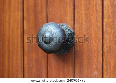 Irish Old Wooden Painted Door