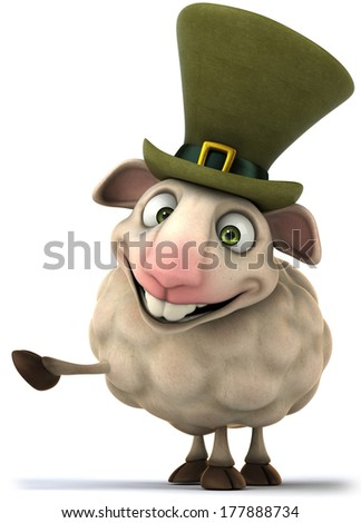 Irish sheep - stock photo