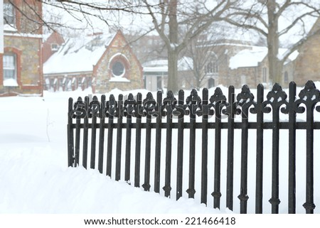 Iron and Snow - stock photo