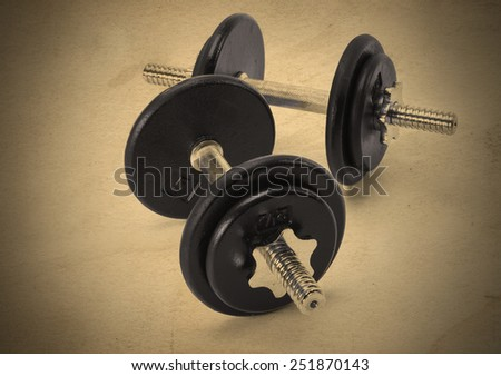 Iron and steel free weights set for fitness