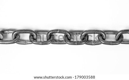 Iron chain - stock photo