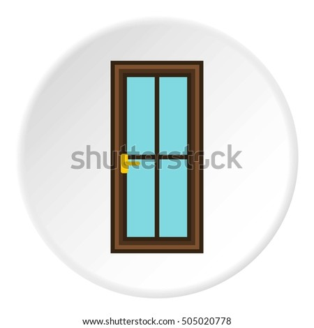 Iron door icon. Flat illustration of iron door  icon for web