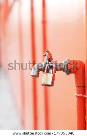 iron faucet water with lock