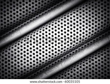 iron fence - stock photo