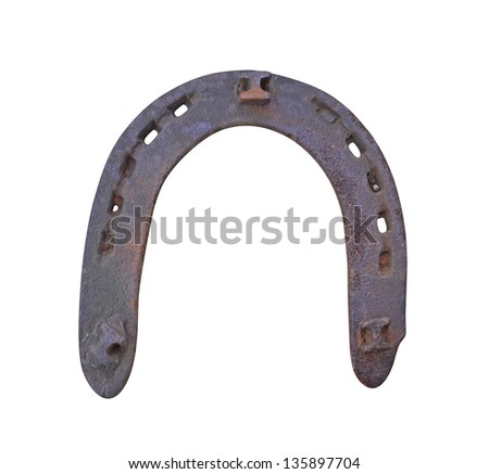 iron horseshoe isolated on white background