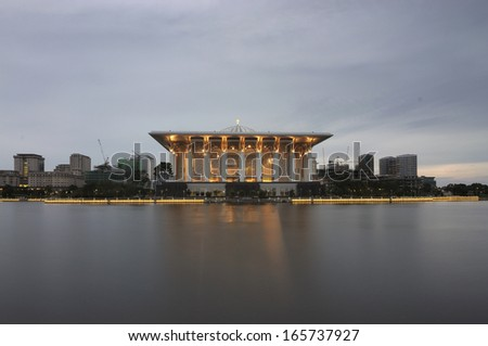 Iron Mosque,Putrajaya on Cloudy Sunrise