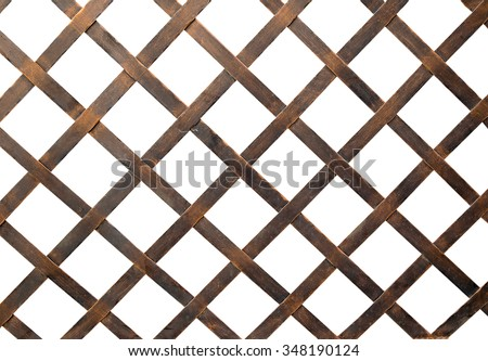 Iron net or steel Cage isolate on white background - stock photo