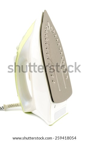 iron on a white background - stock photo