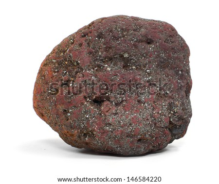 Iron ore - Magnetite from Island of Elba, Italy. - stock photo