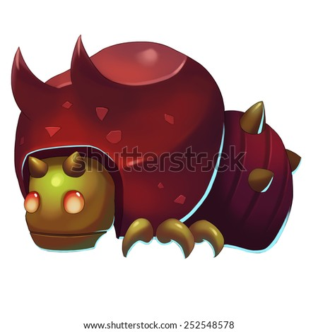 Iron Ox Bug - Creature Design - stock photo