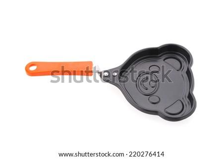 Iron pan isolated on white background - stock photo