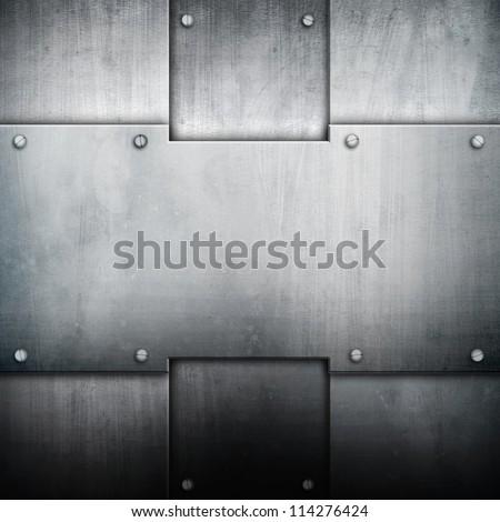 iron pattern background - stock photo