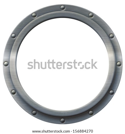 Iron porthole that can be imaged with any photo, illustration or text.