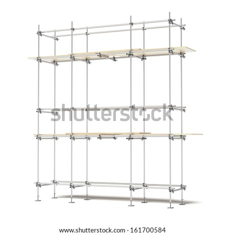 Iron scaffold - stock photo
