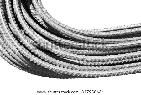 Iron, steel wire isolated on white background. - stock photo