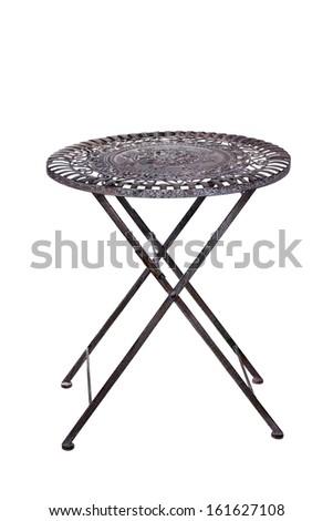 Iron table - stock photo