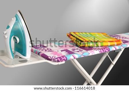 Ironing board. - stock photo