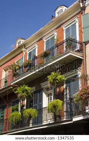 Ironwork balcony - Chartres St. - New Orleans, LA