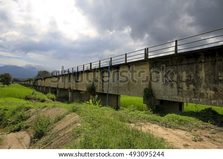 Irrigation Canal bridge in chiangmai thailand