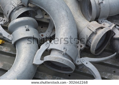 Irrigation Metal Pipes for Water and Environmental Conservation  - stock photo